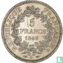 France 5 francs 1849 (Hercules - A)