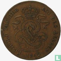 België 2 centimes 1849