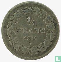 Belgium ¼ franc 1844