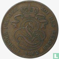 België 2 centimes 1862