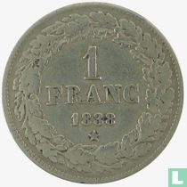België 1 franc 1838 (grote ster)