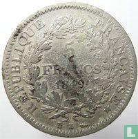 France 5 francs 1849 (K)