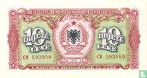 Albanië 10 Lekë 1957