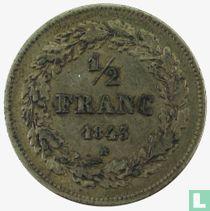 Belgium ½ franc 1843