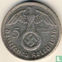 Duitse Rijk 5 reichsmark 1936 (met hakenkruis - D)
