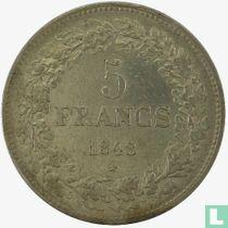 Belgium 5 francs 1848