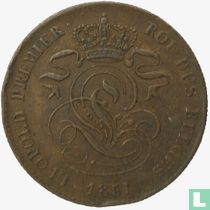 België 2 centimes 1851