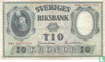 Schweden 10 Kronor 1952