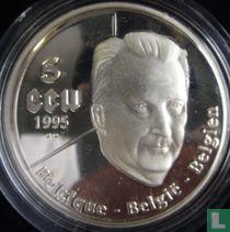 "Belgium 5 ecu 1995 (PROOF) ""50 years of United Nations"""