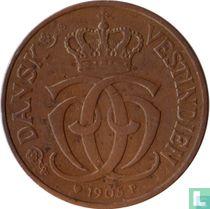 Deens West-Indië 1 cent / 5 bit 1905