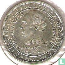 """Denemarken 2 kroner 1906 """"Troonsbestijging van Frederik VIII"""""""