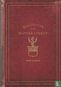 Herinnering aan Mr. J. van Lennep