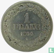 Belgium 1 franc 1844