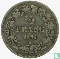 Belgium ½ franc 1844