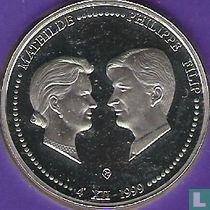 "België 250 francs 1999 (PROOF) ""Marriage of Prince Philip and Princess Mathilde"""