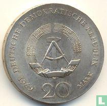 "DDR 20 mark 1969 ""220th anniversary Birth of Johann Wolfgang von Goethe"""