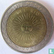 Argentina 1 peso 1995 (with A)