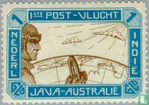 1ste post-vlucht Java-Australië