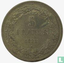 België 5 francs 1833