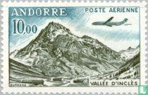 Airplane above landscape