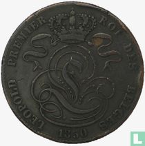 België 5 centimes 1850 gebroken nul