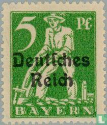 "Bavarian stamps overprinted ""Deutsches Reiuch"" for sale"