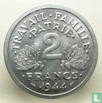 Frankreich 2 Franc 1944 (ohne Buchstaben)