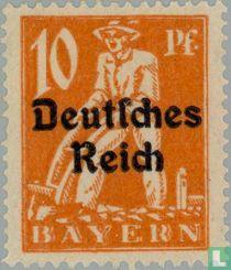 print on stamps of Bavaria