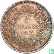 France 5 francs 1848 (Hercules - A)