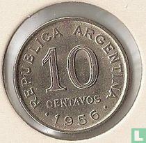 Argentinië 10 centavos 1956