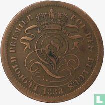 België 2 centimes 1833 (muntslag)