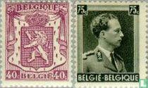 Klein staatswapen en Koning Leopold III