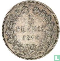 France 5 francs 1870 (K - anchor)