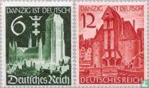 Opdruk frankeerzegels Danzig