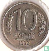 Rusland 10 roebels 1992 (koper-nikkel - IIMD)