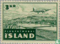 Aircraft on landscape