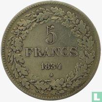 België 5 francs 1834