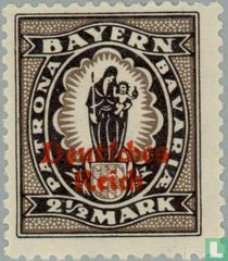 print on stamps of Bavaria