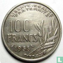 Frankrijk 100 francs 1958 (zonder B - uil)