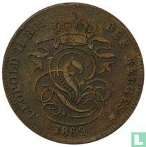 België 2 centimes 1869