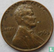 Vereinigte Staaten 1 Cent 1963 (ohne Buchstabe)