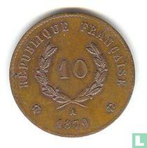 "France 10 centimes 1870 ""Gambetta"""