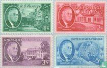 1945 Overlijden President Roosevelt (USA 154)