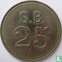 St Bavo kliniek 25 cent 1952