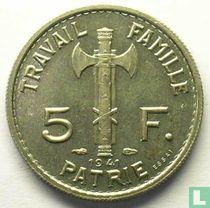 Frankreich 5 Franc 1941