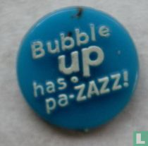 Bubble Up has pa zazz ! (rond) [blauw]