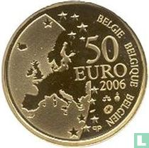 """België 50 euro 2006 (PROOF) """"400th anniversary of the death of Justus Lipsus"""""""