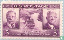 25ste verjaardag van het Panamakanaal  {Roosevelt & Goethals}