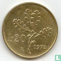 Italië 20 lire 1972