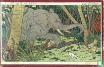 "Kuifje's puzzle karton ""In Congo"""
